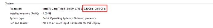 How to check GHz on Windows 10